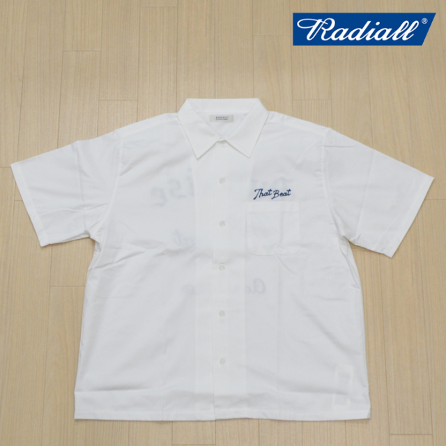 RADIALL(ラディアル) THAT BEAT-OPEN COLLARED  SHIRT S/S(WHITE) 【2019 SPRING&SUMMER SPOT COLLECTION】 【RAD-19SS-SPOT-SH00