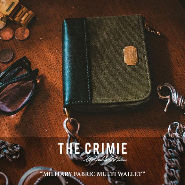 CRIMIE(クライミー) MILITARY FABRIC MULTI WALLET 【2018 SUMMER新作】 【送料無料】 【C1H3-AC04】