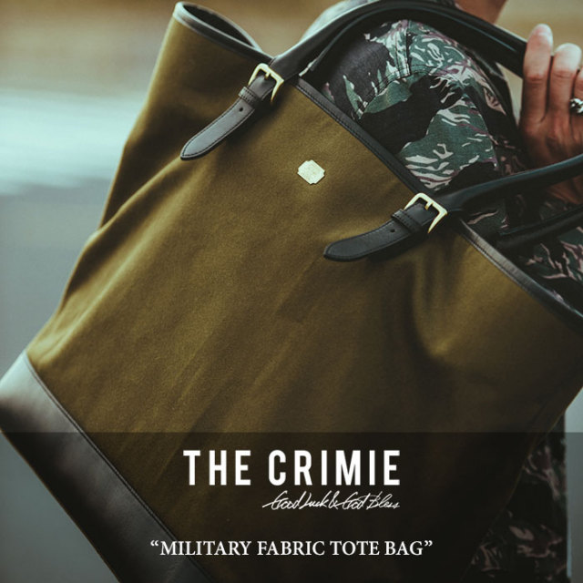 CRIMIE(クライミー) MILITARY FABRIC TOTE BAG 【2018 SUMMER新作】 【送料無料】 【C1H3-AC05】