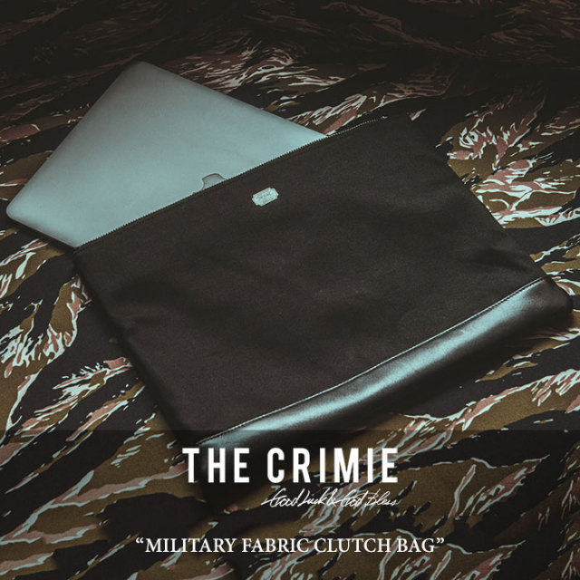 CRIMIE(クライミー) MILITARY FABRIC CLUTCH BAG 【2018 SUMMER新作】 【C1H3-AC07】