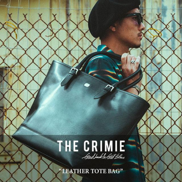 CRIMIE(クライミー) LEATHER TOTE BAG 【2018 SUMMER先行予約】 【送料無料】【キャンセル不可】 【C1H3-AC12】