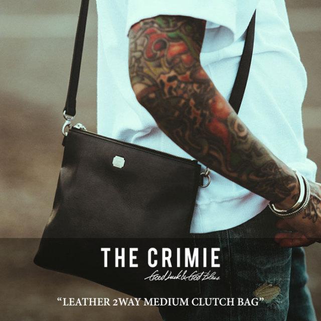 CRIMIE(クライミー) LEATHER 2WAY MEDIUM CLUTCH BAG 【2018 SUMMER先行予約】 【送料無料】【キャンセル不可】 【C1H3-AC13】