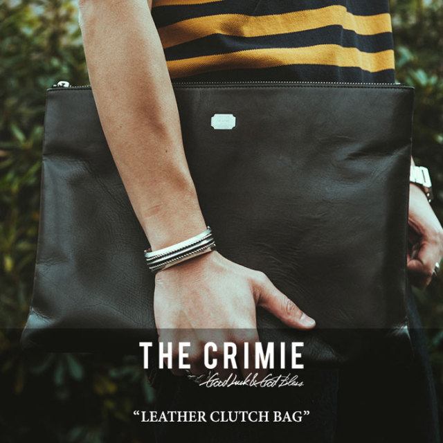 CRIMIE(クライミー) LEATHER CLUTCH BAG 【2018 SUMMER新作】 【送料無料】 【C1H3-AC14】