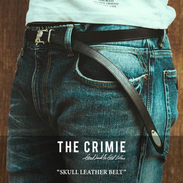 CRIMIE(クライミー) SKULL LEATHER BELT 【2018 SUMMER新作】【C1H3-AC15】