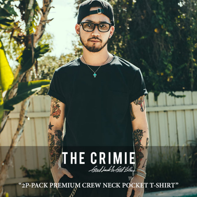 CRIMIE(クライミー) 2P-PACK PREMIUM CREW NECK POCKET T-SHIRT 【2018 SUMMER先行予約】 【キャンセル不可】 【C1H3-CXTE-CP01