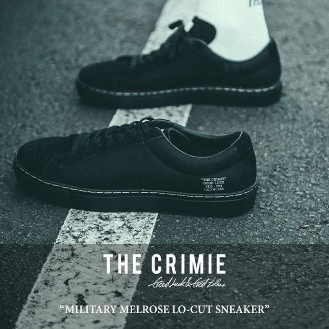 CRIMIE(クライミー) MILITARY MELROSE LO-CUT SNEAKER 【2018 SUMMER新作】 【送料無料】【即発送可能】 【C1H3-SB01】