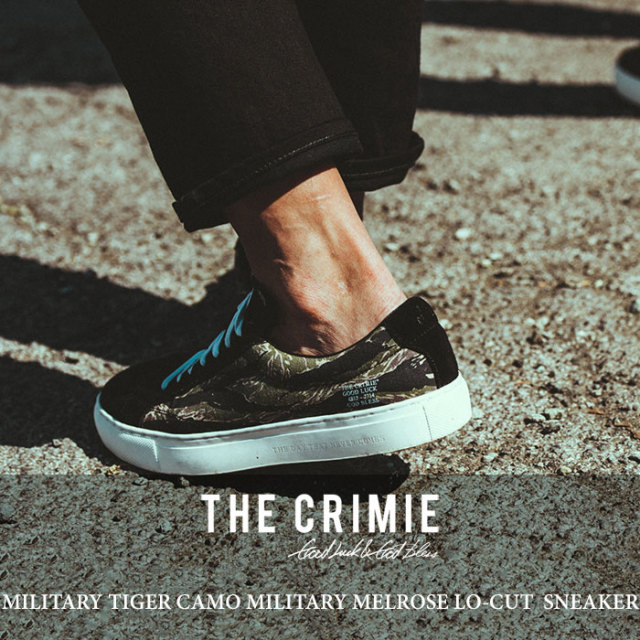 CRIMIE(クライミー) MILITARY TIGER CAMO MELROSE LO-CUT SNEAKER 【2018 SUMMER新作】 【送料無料】【即発送可能】 【C1H3-SB02