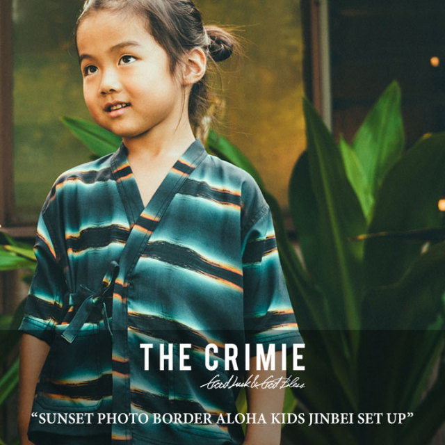 CRIMIE(クライミー) SUNSET PHOTO BORDER ALOHA KIDS JINBEI SET UP 【2018 SUMMER先行予約】 【送料無料】【キャンセル不可】
