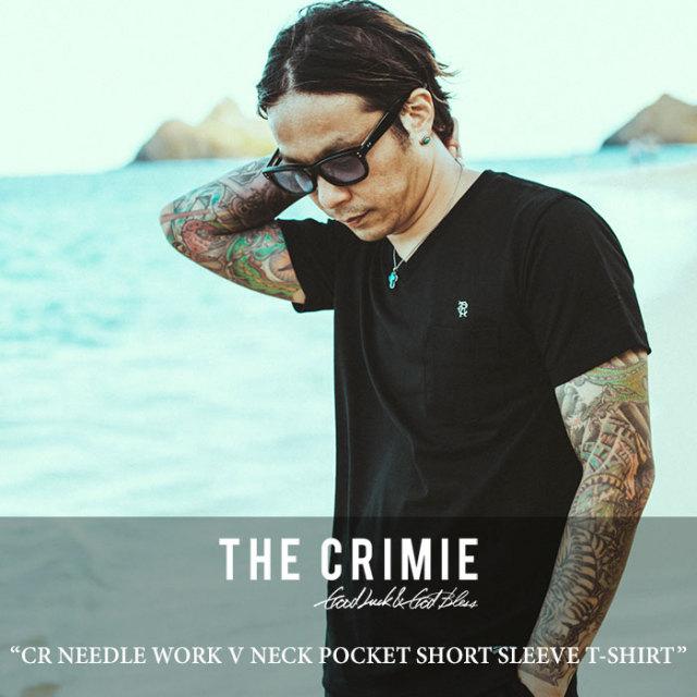 CRIMIE(クライミー) CR NEEDLE WORK V NECK POCKET SHORT SLEEVE T-SHIRT 【2018 SUMMER先行予約】 【キャンセル不可】 【C1H3-T