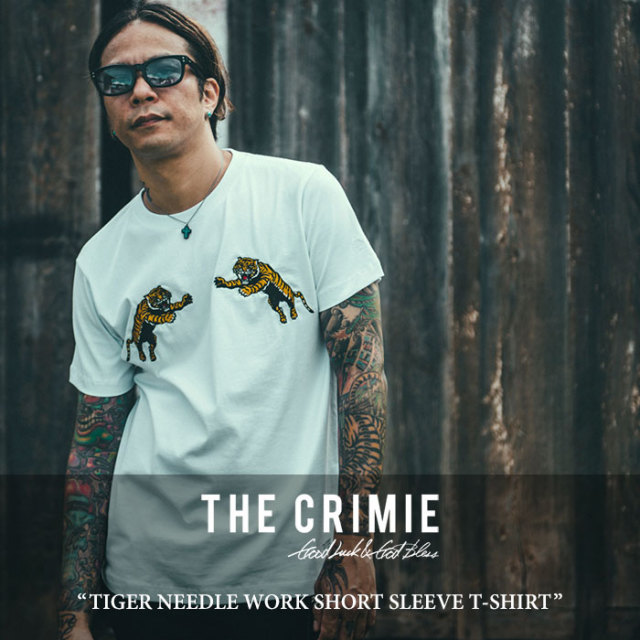 CRIMIE(クライミー) TIGER NEEDLE WORK SHORT SLEEVE T-SHIRT 【2018 SUMMER先行予約】 【送料無料】【キャンセル不可】 【C1H3-
