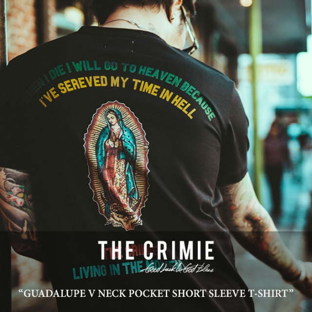 CRIMIE(クライミー) GUADALUPE V NECK POCKET SHORT SLEEVE T-SHIRT 【2018 SUMMER新作】 【C1H3-TE05】