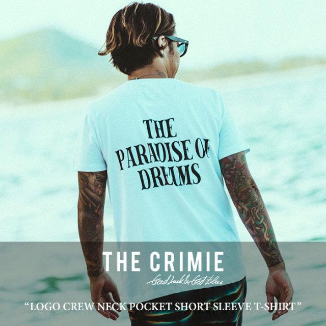 CRIMIE(クライミー) LOGO CREW NECK POCKET SHORT SLEEVE T-SHIRT 【2018 SUMMER先行予約】 【キャンセル不可】 【C1H3-TE07】