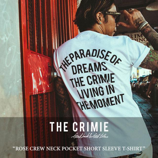【SALE】 CRIMIE(クライミー) ROSE CREW NECK POCKET SHORT SLEEVE T-SHIRT 【2018 SUMMER新作】 【即発送可能】 【C1H3-TE08】