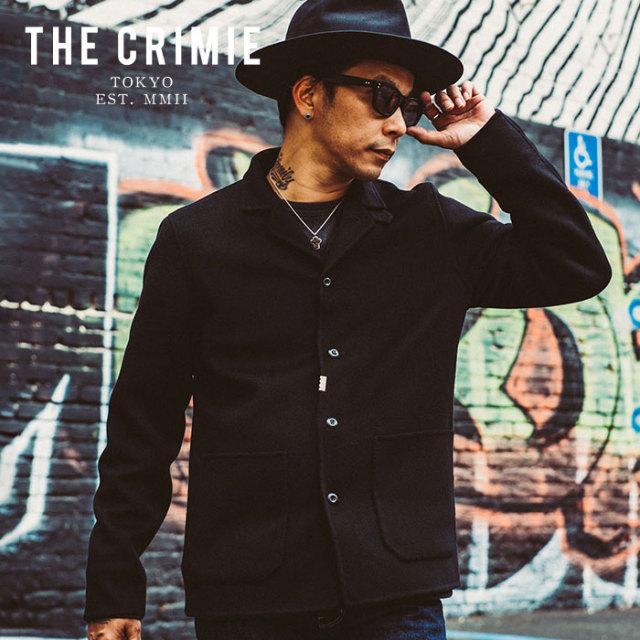 CRIMIE クライミー ジャケット CASHMERE MELTON REVER COVER ALL JAKCET 【カシミヤ メルトン カバーオール ジャケット】【ブラッ