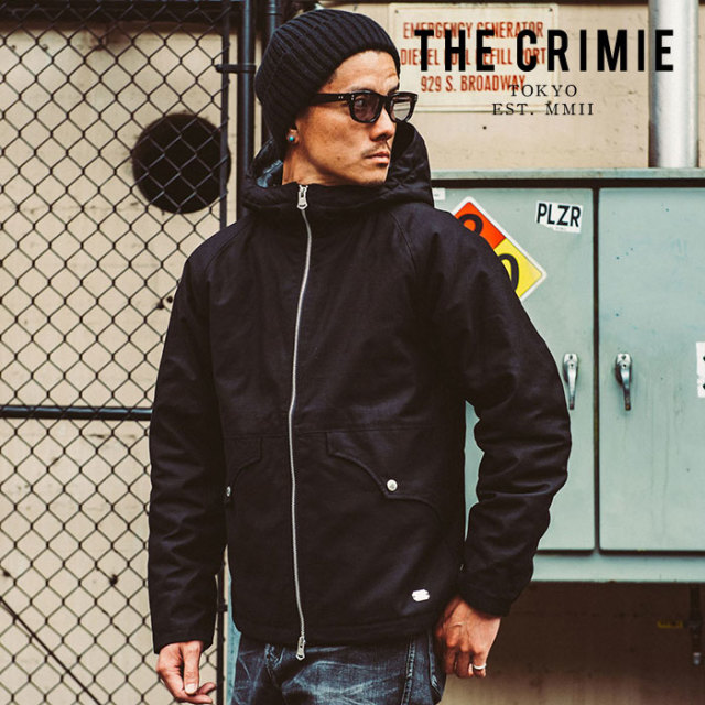 CRIMIE クライミー ジャケット BACK SATAIN THINSULATE ZIP HOOD JACKET 【フードジャケット アウター 黒 ブラック】【ミリタリー