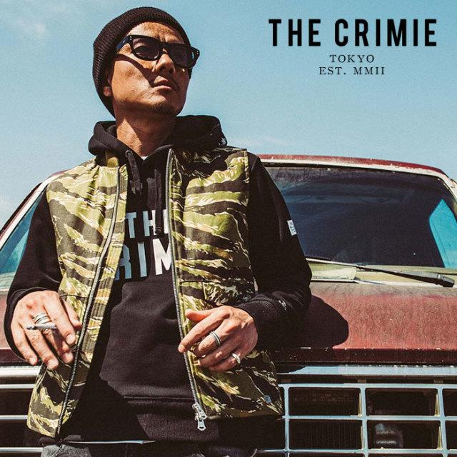 CRIMIE(クライミー) BACK SATAIN THINSULATE CAMO ZIP VEST 【2019AUTUMN&WINTER先行予約】 【キャンセル不可】【CR01-01K5-JK28