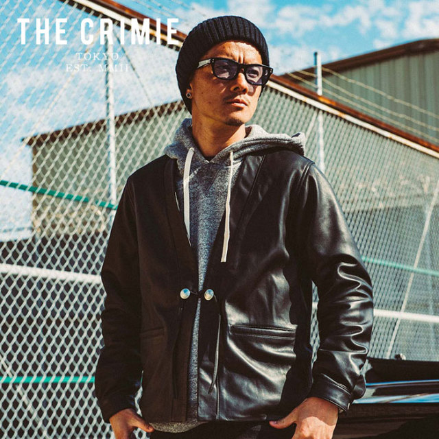 CRIMIE(クライミー) LEATHER CARDIGAN 【2019AUTUMN&WINTER先行予約】 【キャンセル不可】【CR01-01K5-JK53】【カーディガン】