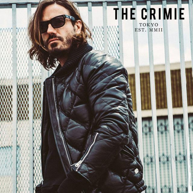 CRIMIE(クライミー) LEATHER DOWN JACKET 【レザーダウンジャケット】【ブラック 黒 アメカジ ミリタリー おしゃれ】【送料無料】