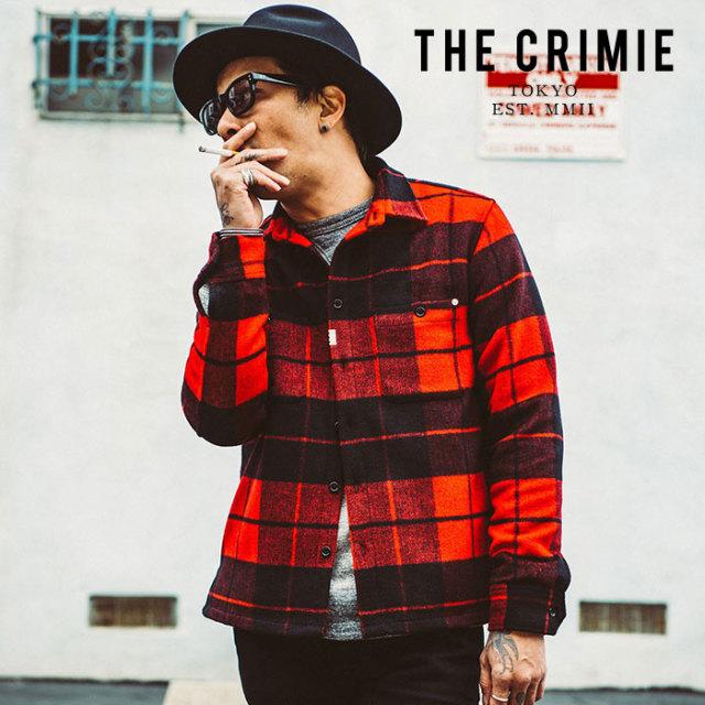 CRIMIE(クライミー) WOOL CHECK SHIRT 【ウールチェック シャツ】【シャツジャケット】【送料無料】【2019AUTUMN&WINTER新作】【CR