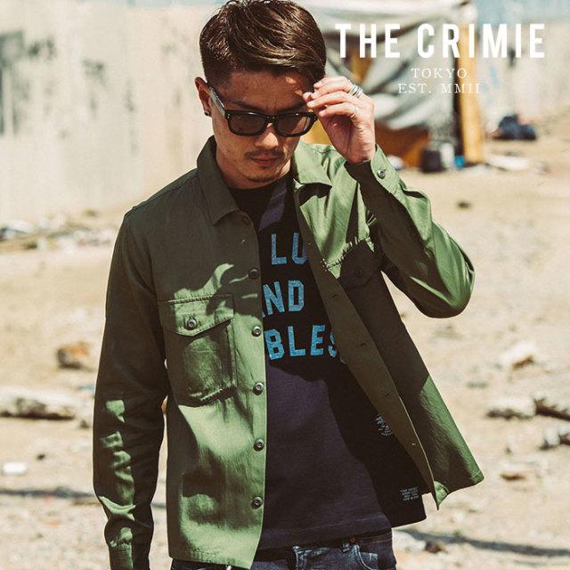 CRIMIE(クライミー) MILITALY SATIN SHIRT 【2019AUTUMN&WINTER先行予約】 【キャンセル不可】【CR01-01K5-SL06】【ミリタリーシ
