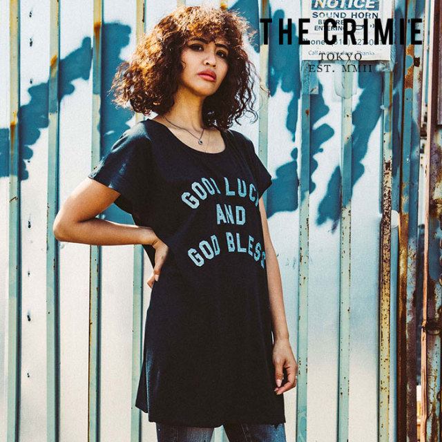 CRIMIE(クライミー) WOMEN MINI ONE PIECE T SHIRT 【2019AUTUMN&WINTER先行予約】 【キャンセル不可】【CR02-01K5-TP01】【Tシャ