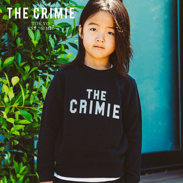 CRIMIE(クライミー) KIDS LOGO CREW  POCKET SWEAT 【2019AUTUMN&WINTER先行予約】 【キャンセル不可】【CR03-01K5-CL55】【スウ
