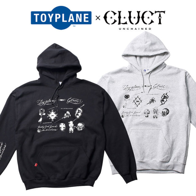 TOYPLANE(トイプレーン)×CLUCT(クラクト) FLASH HOODIE 【SPECIAL COLLABORATION】 【コラボ パーカー】【TPCT-SW01】