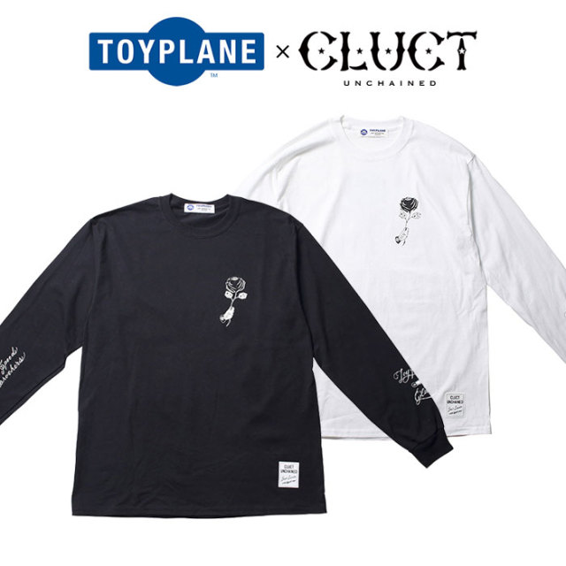 TOYPLANE(トイプレーン)×CLUCT(クラクト) L/S  ROSE TEE 【SPECIAL COLLABORATION】 【コラボ ロンT】【TPCT-TE02】