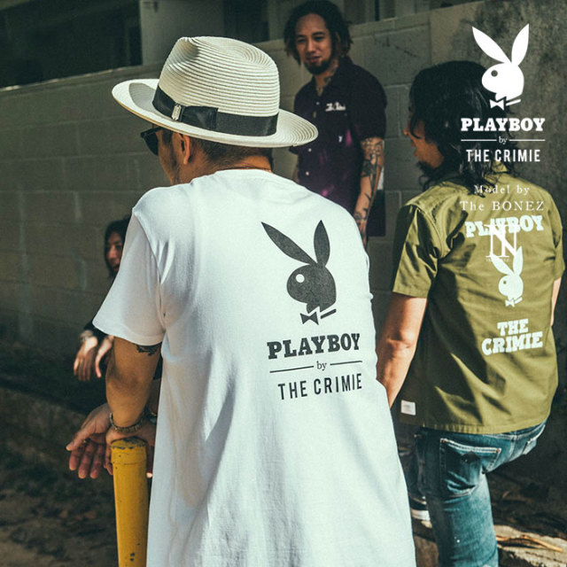 "【SALE30%OFF】 ""CRIMIE PLAYBOY SERIES"" meets The BONEZ in Hawaii PLAYBOY LOGO T-SHIRT 【CR01-01K3-TE76】【Tシャツ セール"