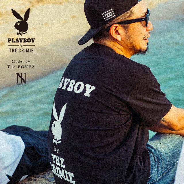 """CRIMIE PLAYBOY SERIES"" meets The BONEZ in Hawaii PLAYBOY W LOGO T-SHIRT 【CR01-01K3-TE77】【Tシャツ】 【PLAYBOY】【The B"