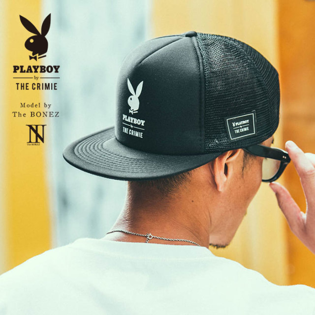 "【SALE30%OFF】 ""CRIMIE PLAYBOY SERIES"" meets The BONEZ in Hawaii PLAYBOY LOGO MESH CAP 【CR01-01K3-HW71】【メッシュキャッ"
