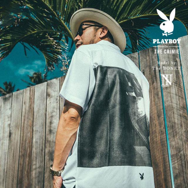 """CRIMIE PLAYBOY SERIES"" meets The BONEZ in Hawaii PLAYBOY POISON PHOTO SHIRT 【CR01-01K3-SH72】【シャツ】 【予約商品】【P"