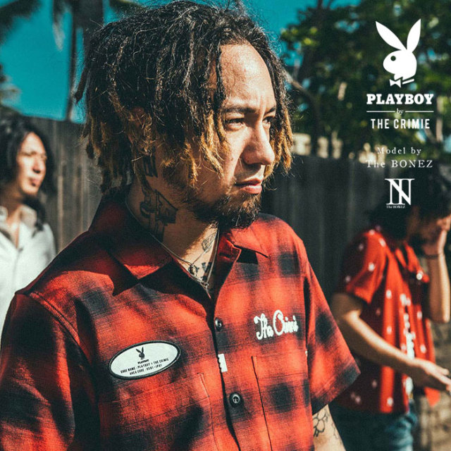 """CRIMIE PLAYBOY SERIES"" meets The BONEZ in Hawaii PLAYBOY CHECK SHIRT 【CR01-01K3-SH76】【シャツ】 【予約商品】【PLAYBOY"