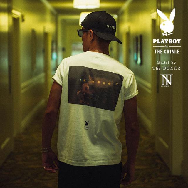 """CRIMIE PLAYBOY SERIES"" meets The BONEZ in Hawaii PLAYBOY NIGHT CLUB PHOTO T-SHIRT 【CR01-01K3-TE74】【Tシャツ】 【PLAYBO"