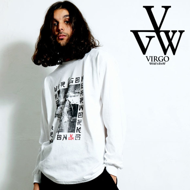 VIRGO ヴァルゴ バルゴ SCARRY PICTURE BOOK L/S 【Uziii×VIRGOwearworks】 【ロングスリーブTシャツ】【VG-CB-93】【2020SPRING&S