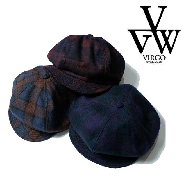 VIRGO ヴァルゴ バルゴ DARK CHECK CAS 【キャスケット】【VG-GD-629】【2020SPRING&SUMMER先行予約】【キャンセル不可】