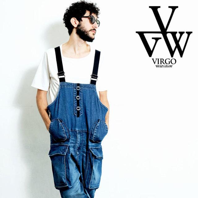 VIRGO ヴァルゴ バルゴ DENIM CARGO OVERALLS 【オーバーオール】【VG-PT-332】【2020SPRING&SUMMER先行予約】【キャンセル不可】
