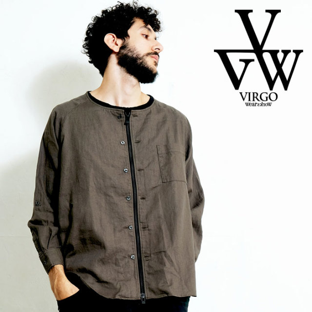 VIRGO ヴァルゴ バルゴ 2WAY GAUZE SHIRTS 【2WAYシャツ】【VG-SH-213】【2020SPRING&SUMMER先行予約】【キャンセル不可】