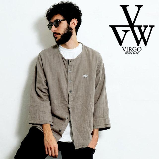VIRGO ヴァルゴ バルゴ 'EDO 2' RELAX SHIRTS 【シャツ ヘンリーネック】【VG-SH-216】【2020SPRING&SUMMER先行予約】【キャンセル