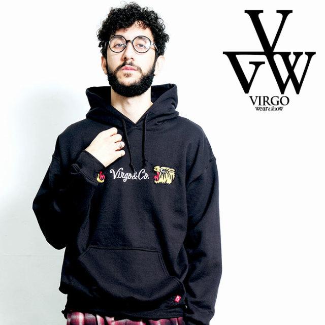 VIRGO ヴァルゴ バルゴ EAT THE TIGER HOODIE 【プルオーバーパーカー】【VG-SWT-124】【2020SPRING&SUMMER新作】【VIRGOwearworks