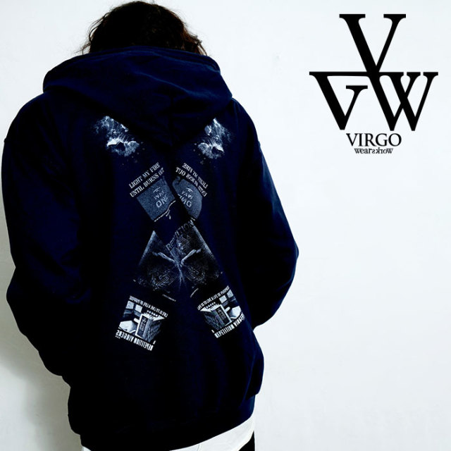 VIRGO ヴァルゴ バルゴ CROSS ZIP HOODIE 【ジップパーカー】【VG-SWT-215】【2020SPRING&SUMMER先行予約】【キャンセル不可】