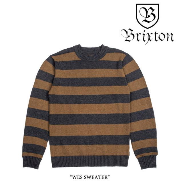 BRIXTON(ブリクストン) WES SWEATER 【2017AUTUMN/WINTER新作】 【即発送可能】【送料無料】 【BRIXTON セーター】