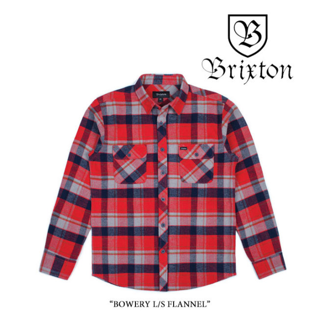 BRIXTON(ブリクストン) BOWERY L/S FLANNEL 【2017AUTUMN/WINTER新作】 【即発送可能】【送料無料】 【BRIXTON ネルシャツ】