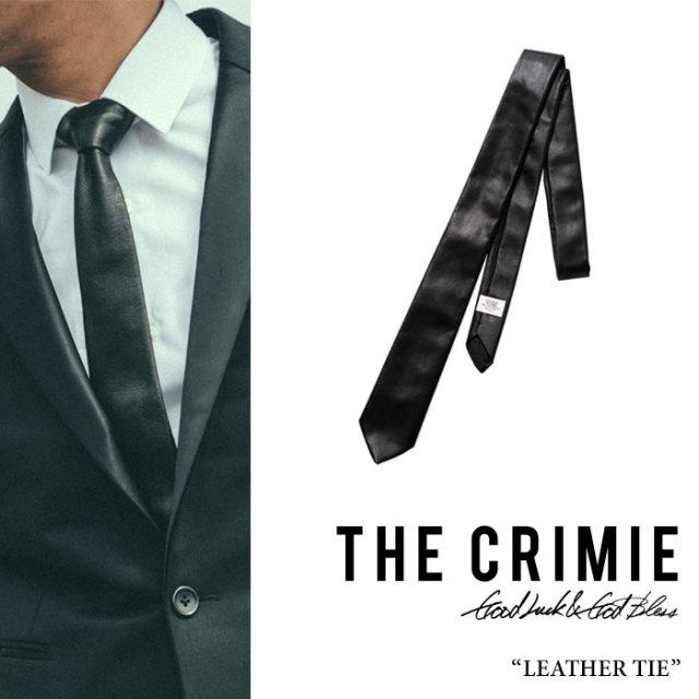 CRIMIE(クライミー) CR LEATHER TIE 【2017A/W先行予約先行予約】 【送料無料】【キャンセル不可】 【C1G5-CXAC-LT01】【CRIMIE