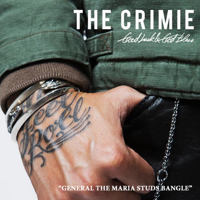 CRIMIE(クライミー) GENERAL THE MARIA STUDS BANGLE 【2018SPRING/SUMMER先行予約】 【送料無料】【キャンセル不可】 【C1H1-CX