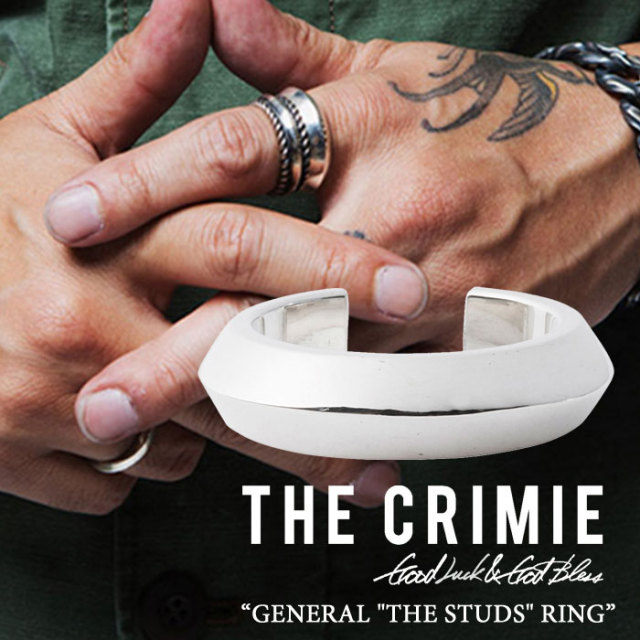 "CRIMIE(クライミー) GENERAL ""THE STUDS"" RING 【2018SPRING/SUMMER先行予約】 【送料無料】【キャンセル不可】 【C1H1-CXAG-GR0"