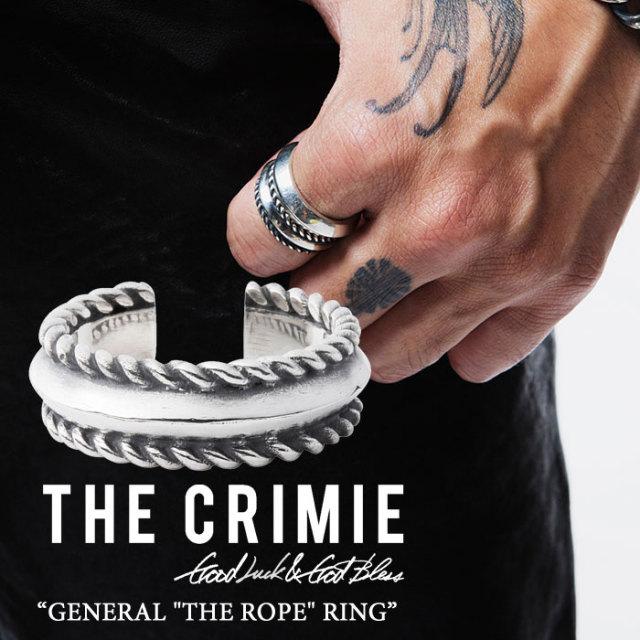 "CRIMIE(クライミー) GENERAL ""THE ROPE"" RING 【2018SPRING/SUMMER先行予約】 【送料無料】【キャンセル不可】 【C1H1-CXAG-GR02"