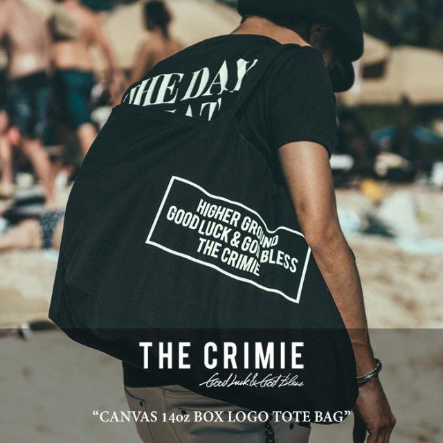 CRIMIE(クライミー) CANVAS 14oz BOX LOGO TOTE BAG 【2018SPOT先行予約】 【キャンセル不可】 【C1G3-C1F3-BG01】 【CRIMIE ト