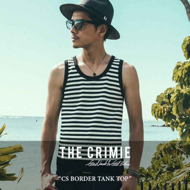 CRIMIE(クライミー) CS BORDER TANK TOP 【2017SUMMER先行予約】 【キャンセル不可】 【C1G3-CS08】 【CRIMIE Tシャツ】