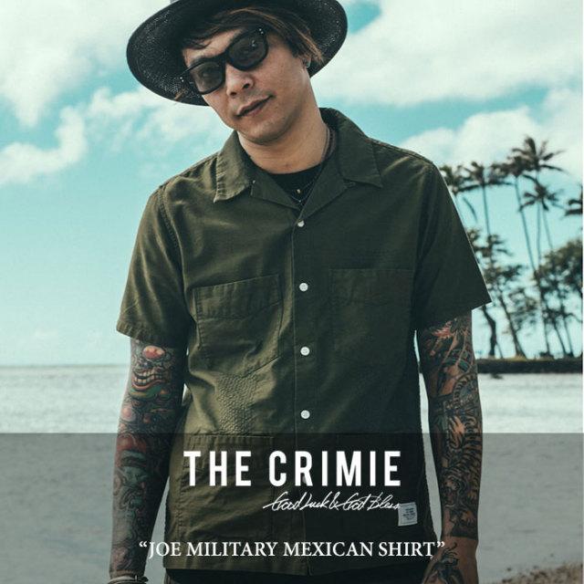 CRIMIE(クライミー) JOE MILITARY MEXICAN SHIRT 【2017SUMMER先行予約】 【送料無料】【キャンセル不可】 【C1G3-SH04】【CRIMI